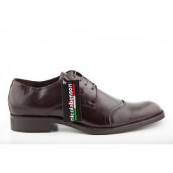 Pánska kožená obuv 289 Nicola Benson, Hnedá, 44