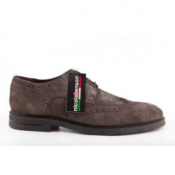 Pánska kožená obuv 296 Nicola Benson, Šedá, 44