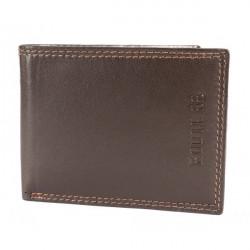 Pánska kožená peňaženka 1028 tmavohnedá Route 66, Hnedá