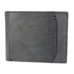 Pánska kožená peňaženka 1032 čierna Route 66, Čierna