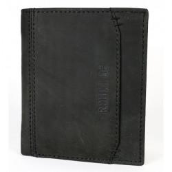 Pánska kožená peňaženka 520 čierna Route 66, Čierna