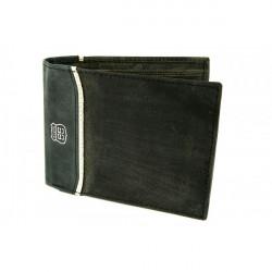 Pánska kožená peňaženka 734 šedo-čierna Route66, Čierna