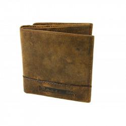 Pánska kožená peňaženka ROUTE 66 hnedá, Farba hnedá Route 66 585