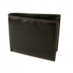 Pánska kožená peňaženka ROUTE 66 tmavohnedá, Farba hnedá Route 66 738