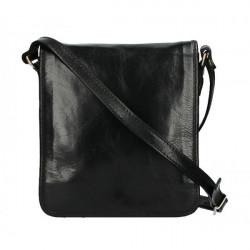 Pánska kožená taška 152 čierna, Modrá