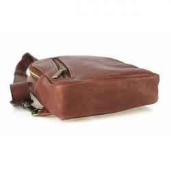 Pánska kožená taška cez rameno 990 čierna, Čierna #4