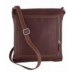 Pánska kožená taška na rameno 119 hnedá Made in Italy, Hnedá
