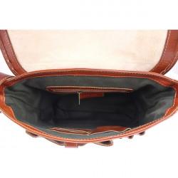Pánska kožená taška na rameno 6022 červená, Červená #1