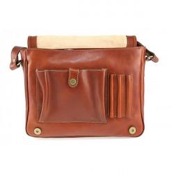 Pánska kožená taška na rameno 6022 červená, Červená #2