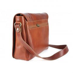 Pánska kožená taška na rameno 6022 červená, Červená #3