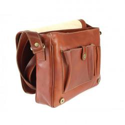 Pánska kožená taška na rameno 6022 červená, Červená #4