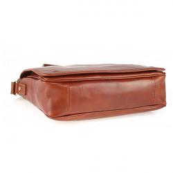 Pánska kožená taška na rameno 6022 červená, Červená #5