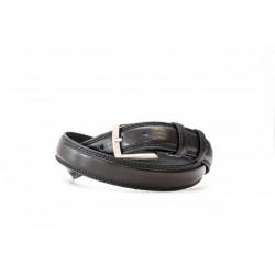 Pánsky kožený opasok 1019 čierny Made in Italy, Čierna, 105/120 cm