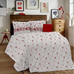 Posteľné obliečky MIG001 Glenda červené Made in Italy, Červená, 1x80x80/1x140x200 cm