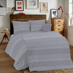 Posteľné obliečky MIG001 Intreccio šedé Made in Italy, Šedá, 1x80x80/1x140x200 cm