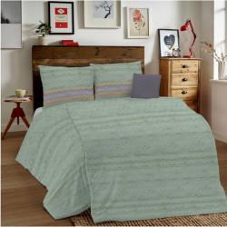 Posteľné obliečky MIG001 Unito zelené Made in Italy, Zelená, 1x80x80/1x140x200 cm