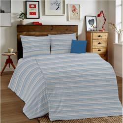 Posteľné obliečky MIG001 Zigzag modré Made in Italy, Modrá, 1x80x80/1x140x200 cm