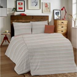 Posteľné obliečky MIG001 Zigzag tehlové Made in Italy, Tehlová, 1x80x80/1x140x200 cm