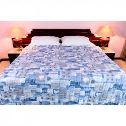 Posteľný prehoz POÉZIA 701 modrý MADE IN ITALY, modrá