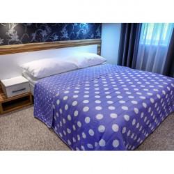 Prehoz na posteľ  701P Pois fialový Made in Italy Fialová 160 x 240 cm