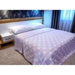 Prehoz na posteľ  701P Pois ružový Made in Italy, Ružová, 220 x 240 cm