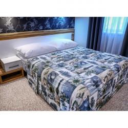 Prehoz na posteľ  701Z ZEN Made in Italy, Modrá, 220 x 240 cm
