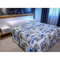 Prehoz na posteľ 701Z ZEN modrý Made in Italy, Modrá, 160 x 240 cm