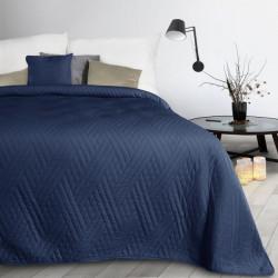 Prehoz na posteľ Boni1 tmavomodrý Modrá 170 x 210 cm
