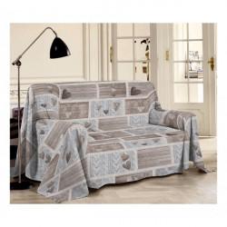Prikrývka na gauč Shabby béžová, Béžová, 250 x 290 cm