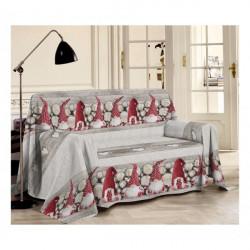 Prikrývka na gauč Škriatkovia červení Červená 250 x 290 cm