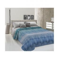 Prikrývka na posteľ Piquet Dúha modrá Modrá 170 x 280 cm