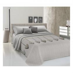 Prikrývka na posteľ Piquet Visiace srdiečka béžové Béžová 260 x 280 cm
