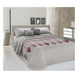 Prikrývka na posteľ Piquet Visiace srdiečka červené Červená 170 x 280 cm