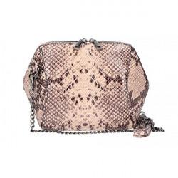 Ružová kožená kabelka 446, Ružová