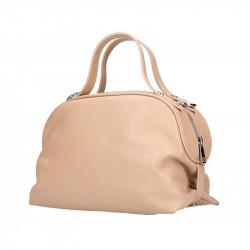 Ružová kožená kabelka 5301 MADE IN ITALY, Farba ružová MADE IN ITALY 5301