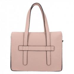 Ružová kožená kabelka 5302 MADE IN ITALY, ružová