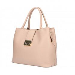 Ružová kožená kabelka 5307, Ružová