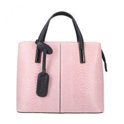 Ružová kožená kabelka 960, Ružová
