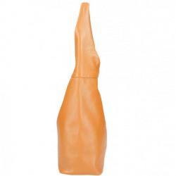 Ružová kožená kabelka na rameno 590, Ružová #3