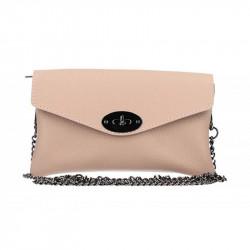 Ružová kožená kabelka na rameno MADE IN ITALY, Farba ružová MADE IN ITALY 5303