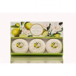 SA Fiorentino Prírodné rastlinné tuhé mydlo Bergamot a gardénia 3 x 100 g
