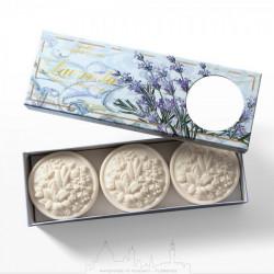 SA Fiorentino Prírodné ratlinné tuhé mydlo Levanduľa 3 x 125 g