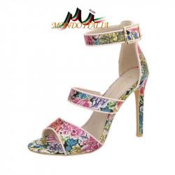 Sandále 1101 s kvetinovým motívom SERGIO TODZI