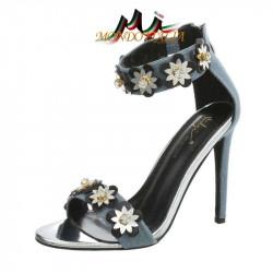 Sandále zdobené kvetmi 1113 jeans SERGIO TODZI