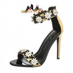 Sandále zdobené kvetmi 1113 zlaté SERGIO TODZI