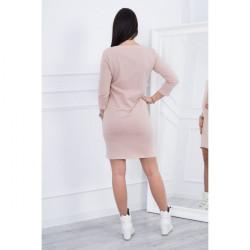 Šaty Classical MI8825 béžové, Uni, Béžová #2