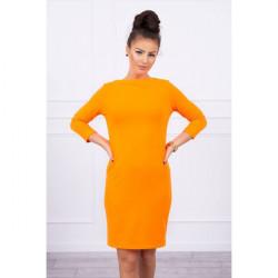 Šaty Classical MI8825 neónovo oranžové, Uni, Oranžová/neón