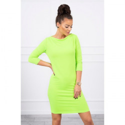 Šaty Classical MI8825 neónovo zelené, Uni, Zelená/neón