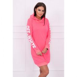Šaty Off White MI62072 ružový neón Univerzálna Ružová/neón