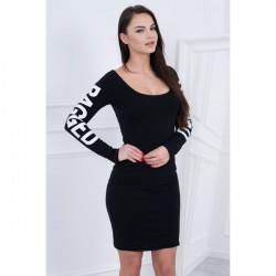 Šaty Ragged MI8828 čierne Univerzálna Čierna